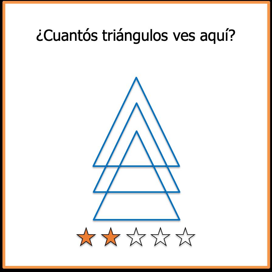 acertijos visuales triangulos