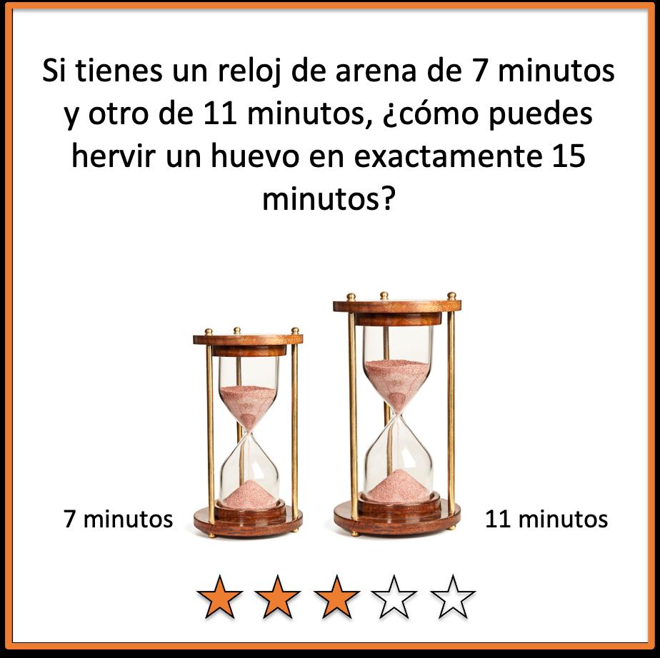 acetijos para adultos reloj de arena
